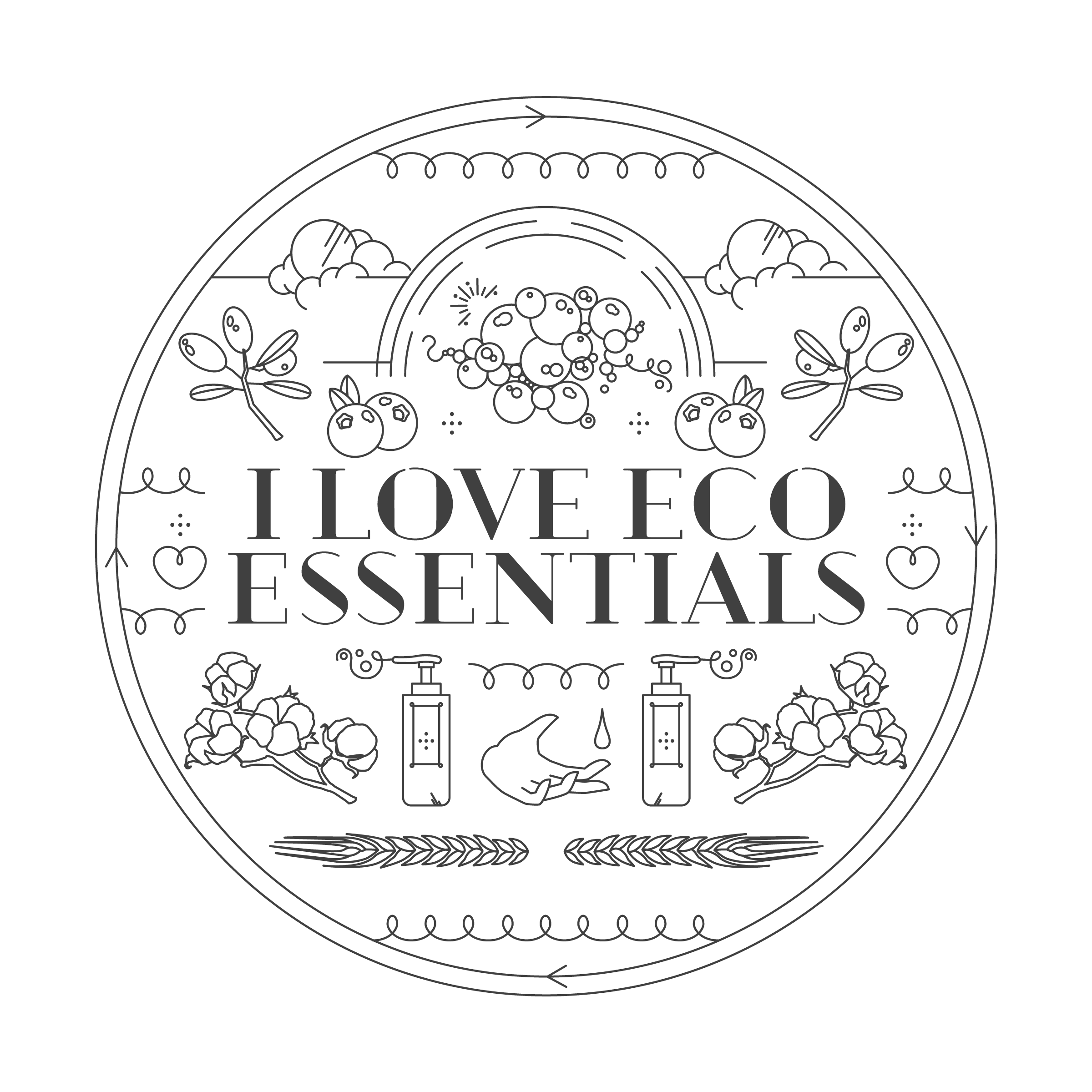 Rotating ILoveEcoEssentials logo